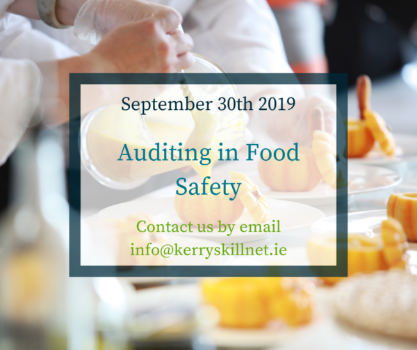 QQI Level 6 Auditing in Food Safety (September 30th 2019